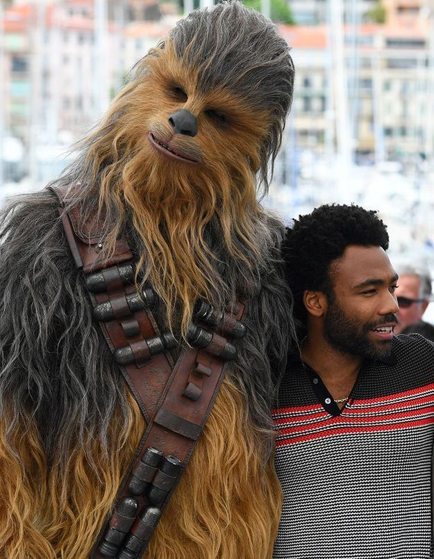 Chewbacca et Donald Glover