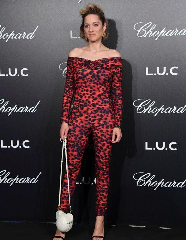 La combi léopard Koche de Marion Cotillard pour Adèle