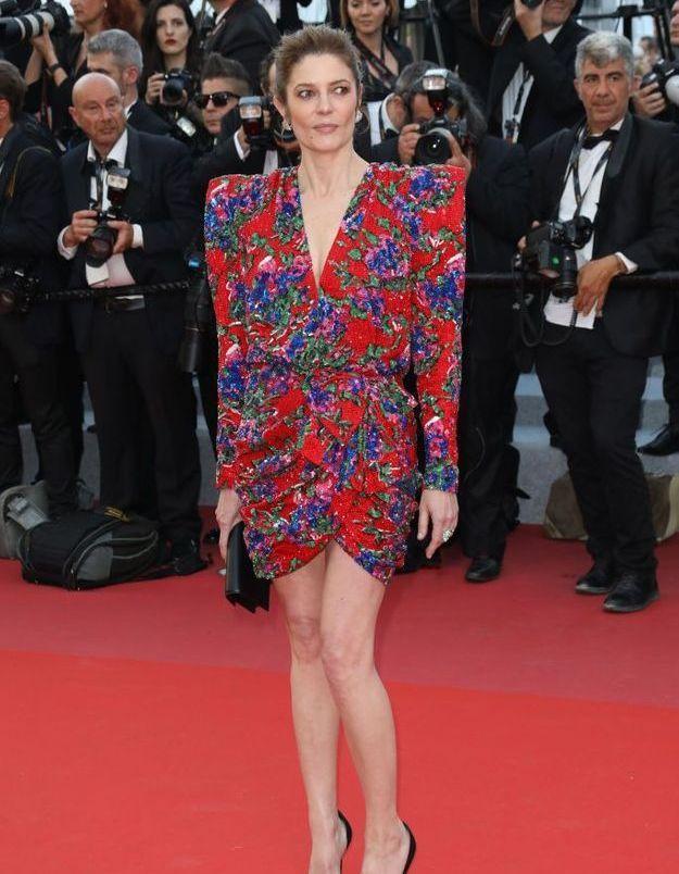 La robe Saint Laurent de Chiara Mastroianni pour Caroline