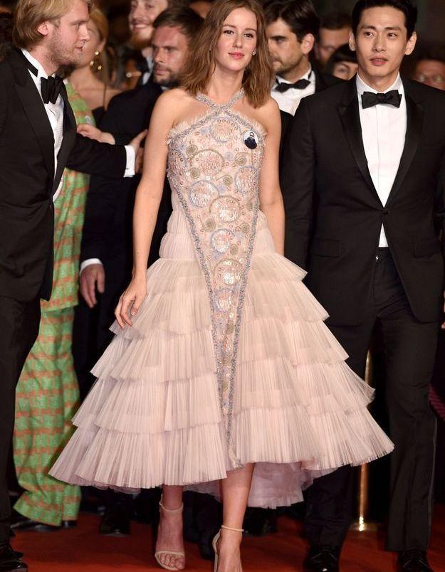 La robe en tulle rose d'Irina Starshenbaum