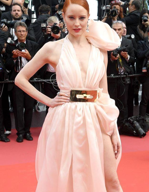 la robe glamour de Barbara Meier