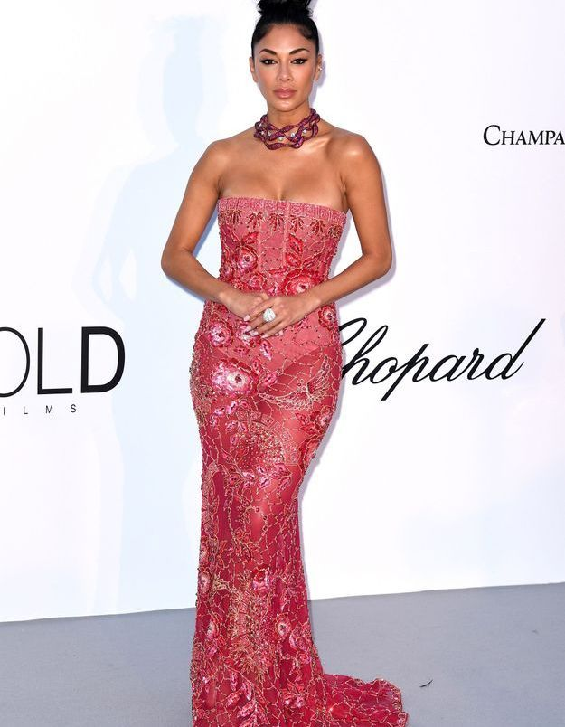 La robe mixte Georges Hobeika de Nicole Scherzinger