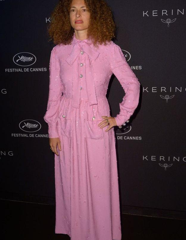 La robe rose de Ginevra Elkann