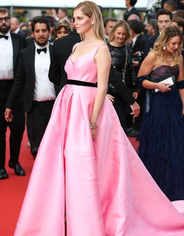 La robe rose et épurée de Chiara Ferragni