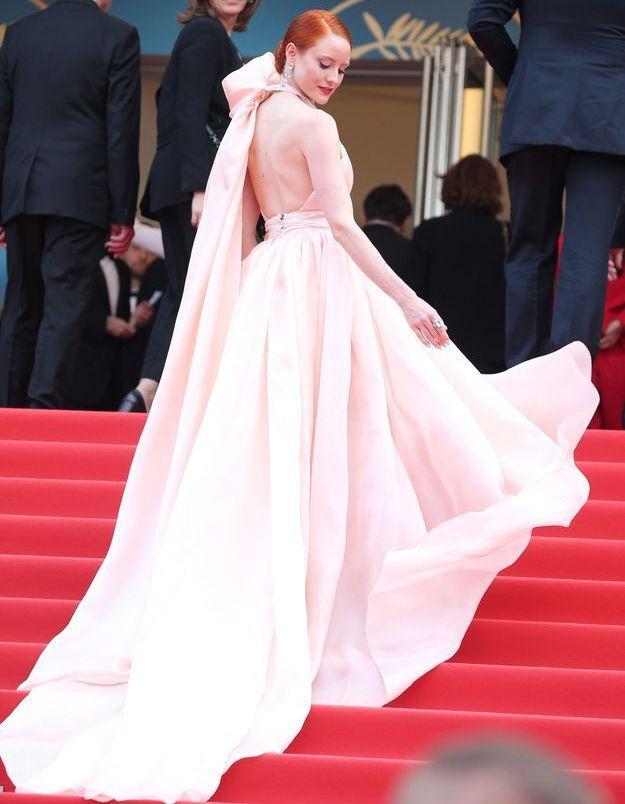 La robe rose glamour de Barbara Meier