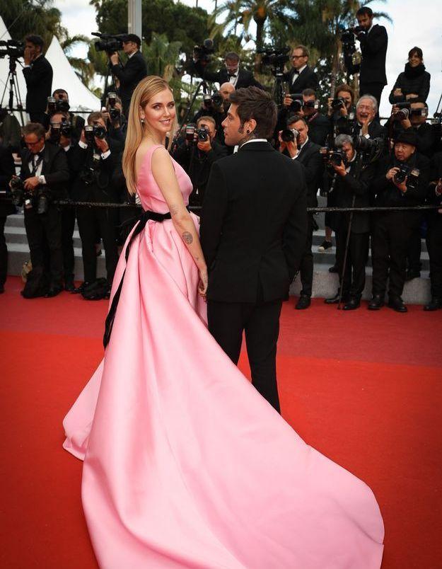 La robe rose minimaliste de Chiara Ferragni