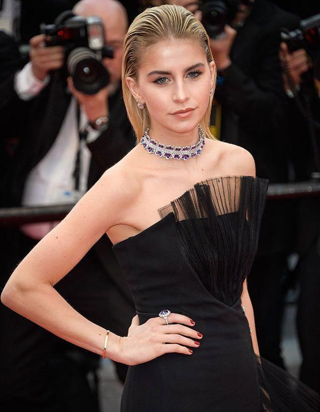 Le wet hair de Caroline Daur à Cannes