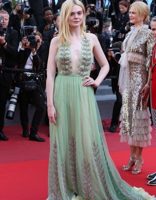 Le look du jour de Cannes : Elle Fanning en Gucci