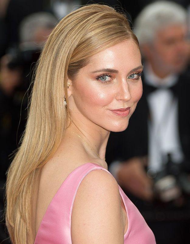 Le maquillage rosé de Chiara Ferragni à Cannes