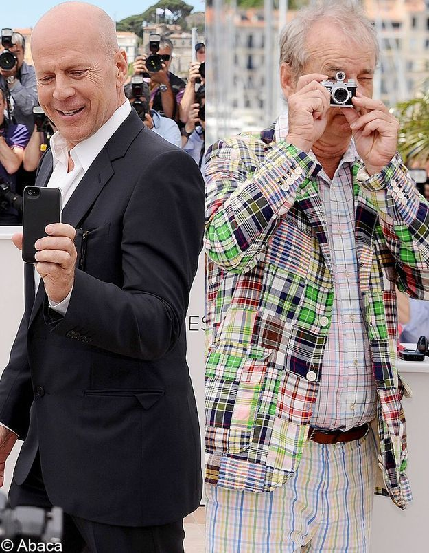 Cannes 2012 : Bruce Willis et Bill Murray shootent les photographes