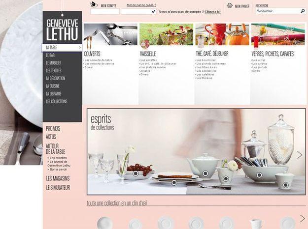 Geneviève Lethu ouvre sa e boutique   Elle Décoration