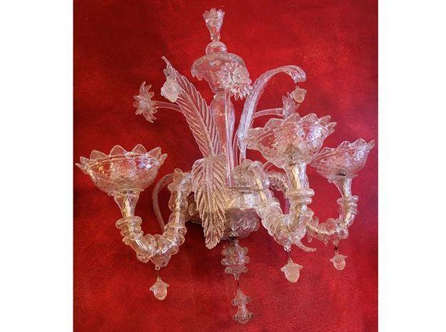 Lapplique en verre de murano elle décoration