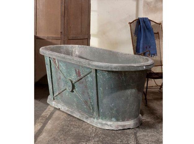 La Baignoire En Zinc Elle Decoration