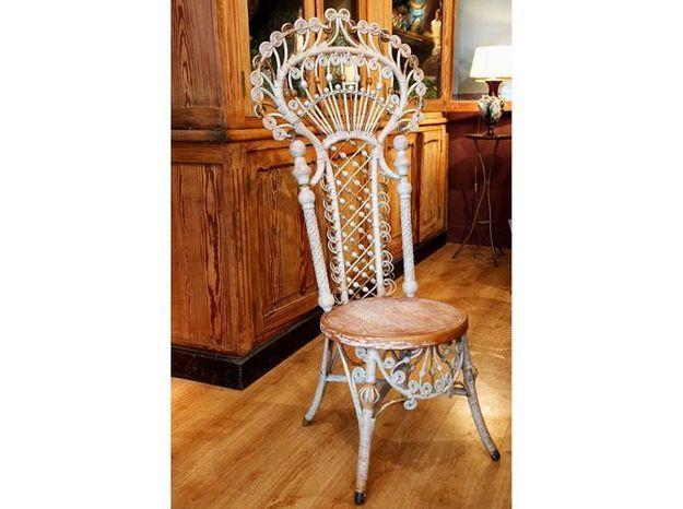 La chaise en rotin américaine