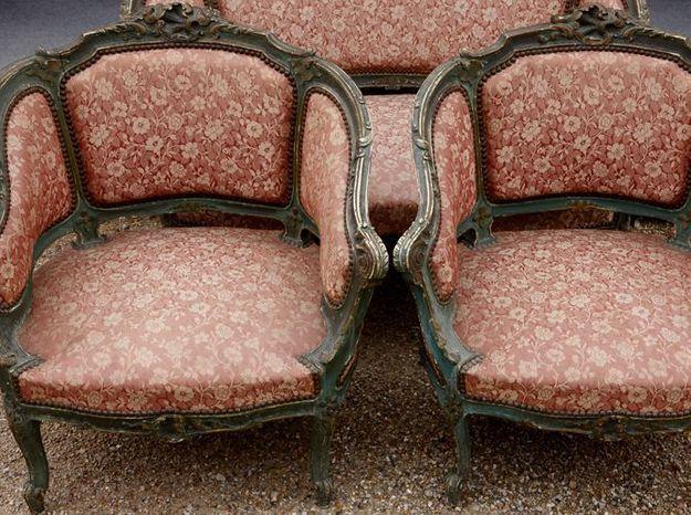 Le salon style Louis XV