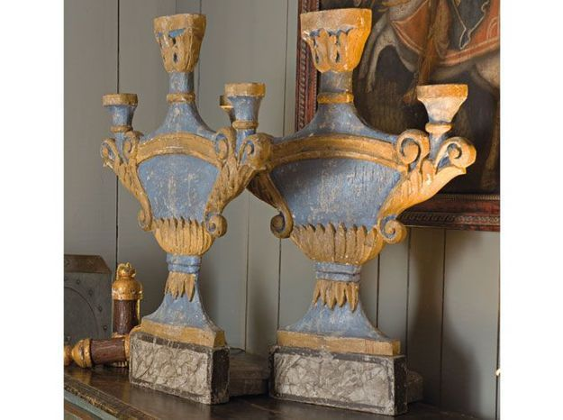 Les bougeoirs d'inspiration baroque