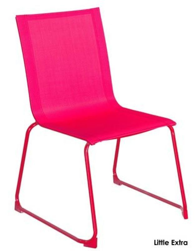 Chaise Empilable Framboise Little Extra