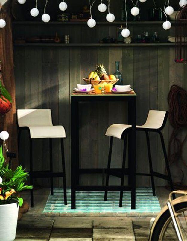 Table Et Tabouret De Bar Ammerö Ikea