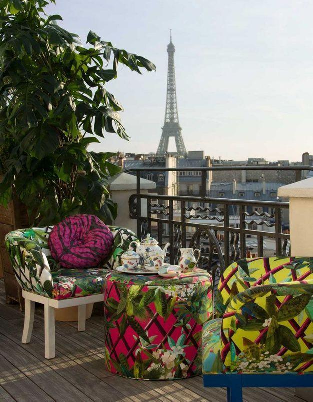 Succomber au mobilier original pour un petit balcon qui change