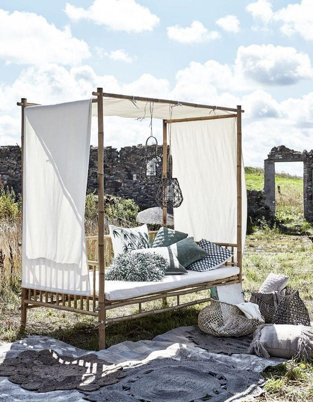 Oser le lit dans le jardin
