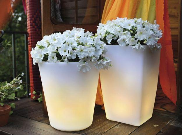 Un pot lumineux pour éclairer ma terrasse