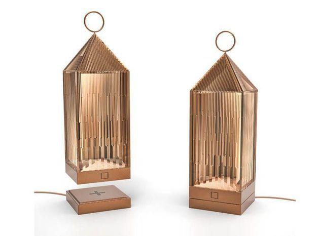 Une lanterne en cuivre pour éclairer ma terrasse