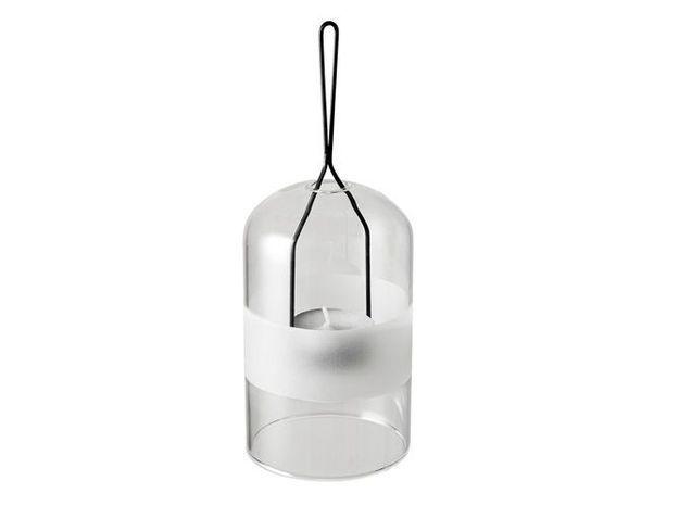 Une lanterne transparente pour éclairer ma terrasse