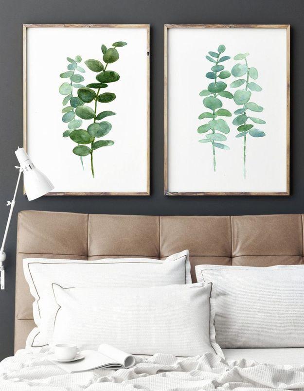 De l'eucalyptus séché façon aquarelle