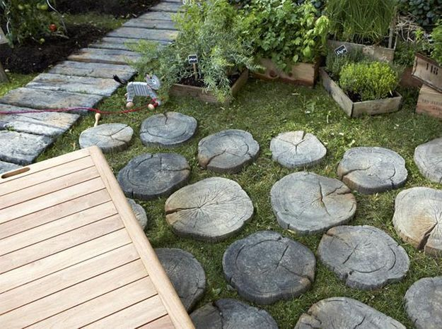 6 bonnes id es d co pour une all e de jardin elle d coration. Black Bedroom Furniture Sets. Home Design Ideas