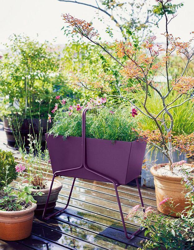 Jardinière design colorée