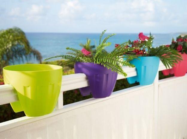 Petites jardinières en couleurs