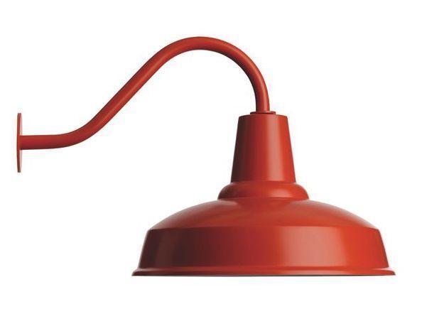 Lampe de jardin rouge retro