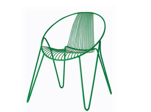 Chaise de jardin verte roche bobois
