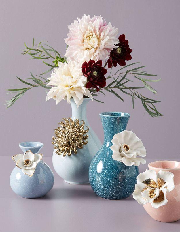Vase avec fleurs Anthropologie
