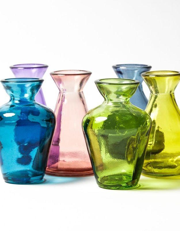 Vase en verre recyclé Merci