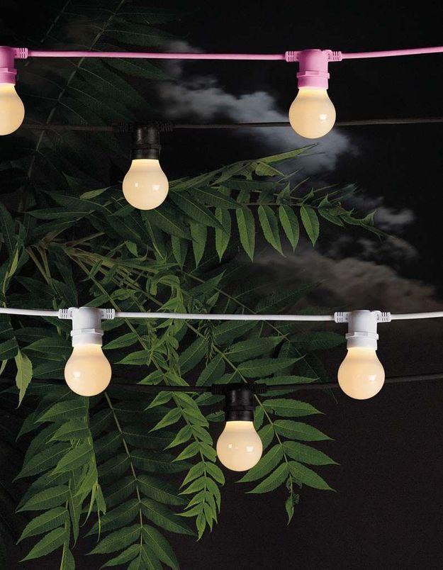 Une lampe de jardin Seletti