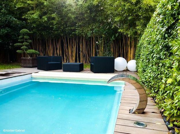Multipliez la verdure près de la piscine