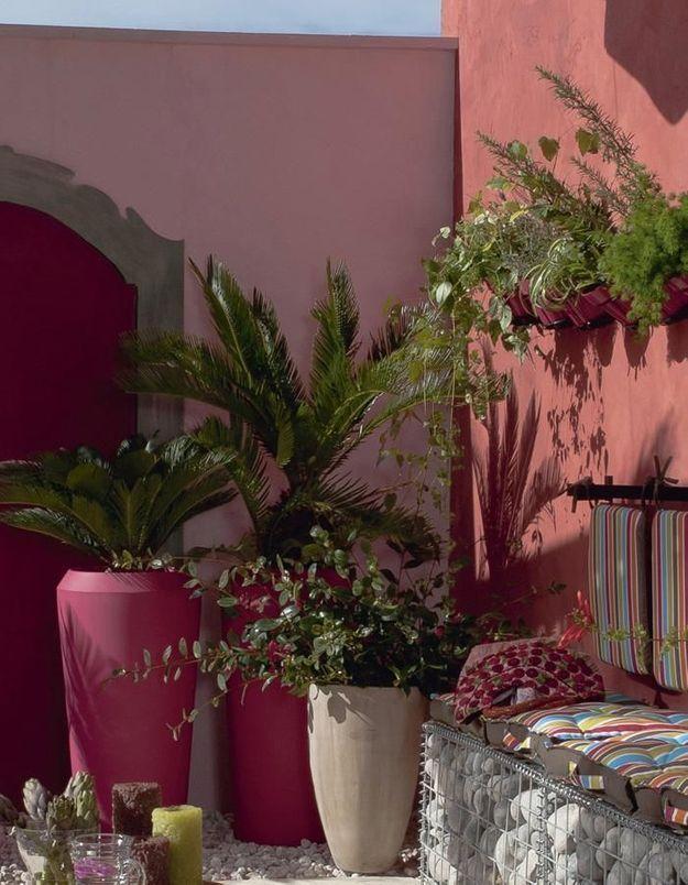Mêler plantes tropicales et teintes chaudes pour une ambiance latine