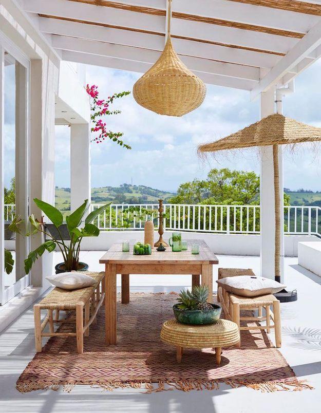 Une terrasse zen à l'esprit vacances