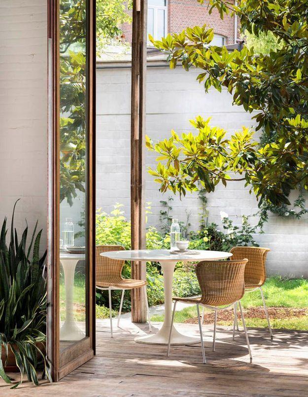 Une terrasse zen car très épurée