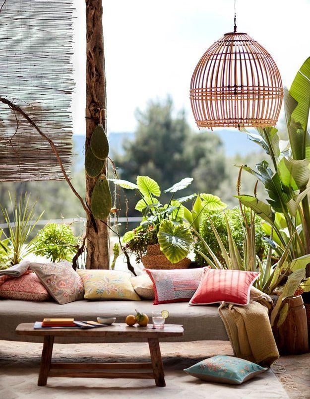 Une terrasse zen grâce à sa banquette