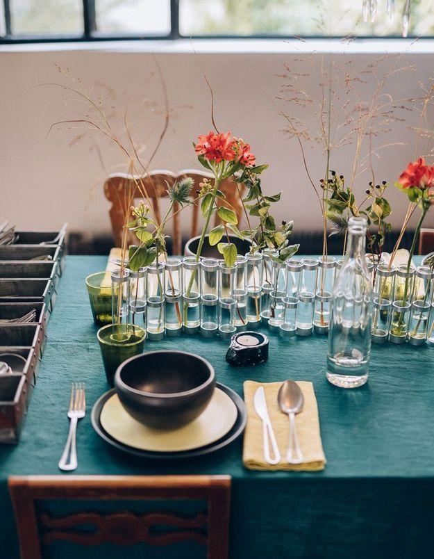 Vase composé de soliflores