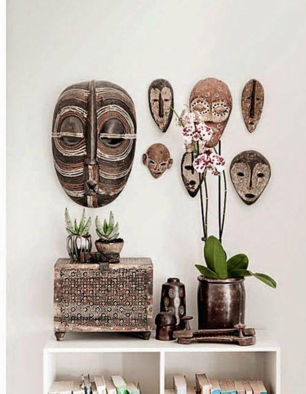 Une collection de masques tribaux