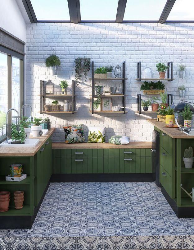 Arroser les plantes d'une pièce