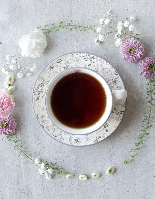 Trier la boîte à sachets de thé
