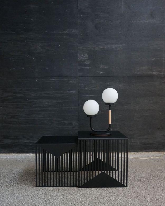 Lampe de Bureau Little Darling en Noir par Maria Gustavsson pour Swedish Ninja, 2016