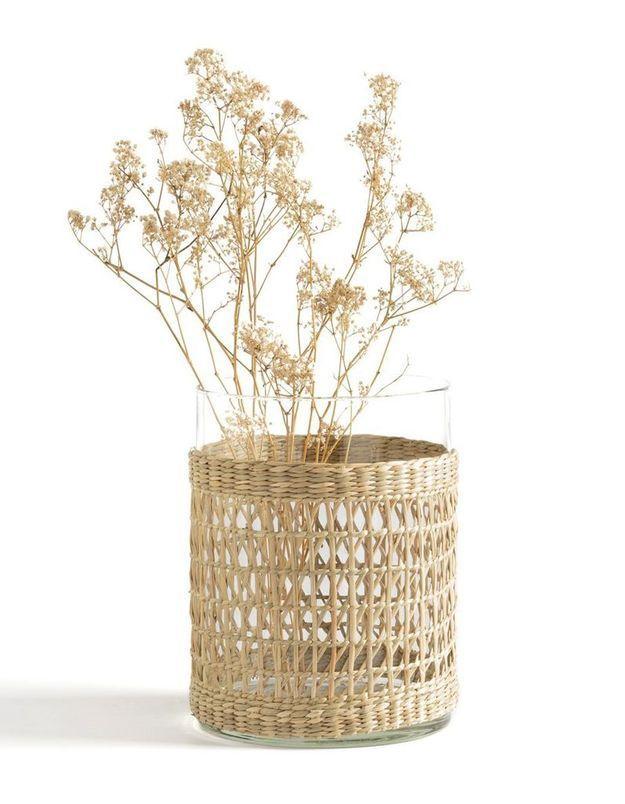 Vase en verre et tressage en herbier La Redoute Interieurs
