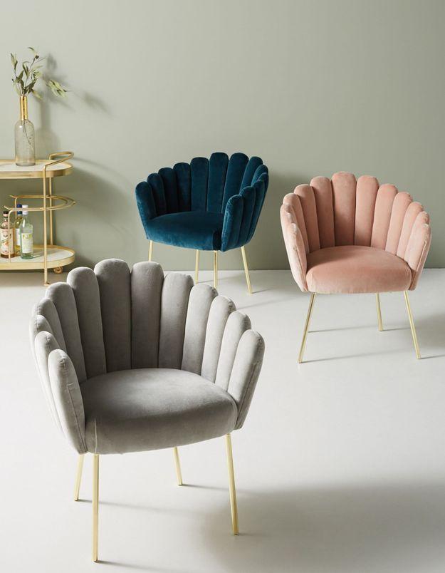 Un fauteuil sculpté Anthropologie