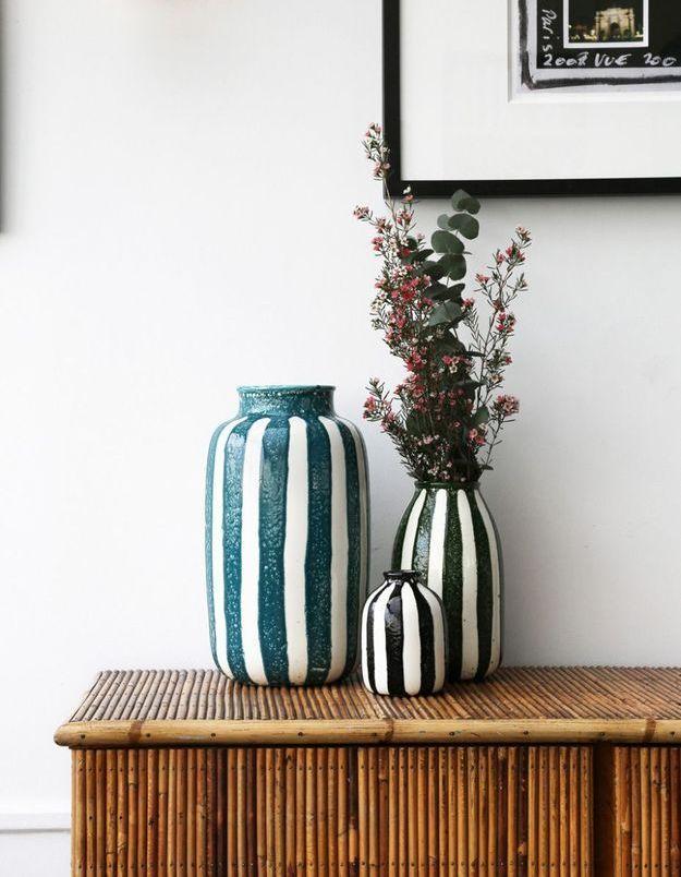 Un vase à rayures Maison Sarah Lavoine