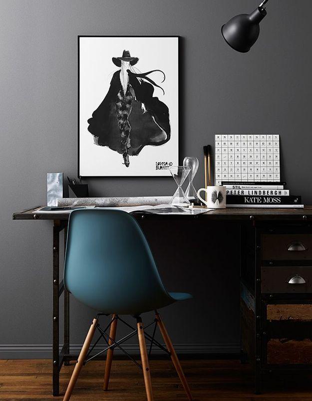 La chaise DSW comme siège de bureau